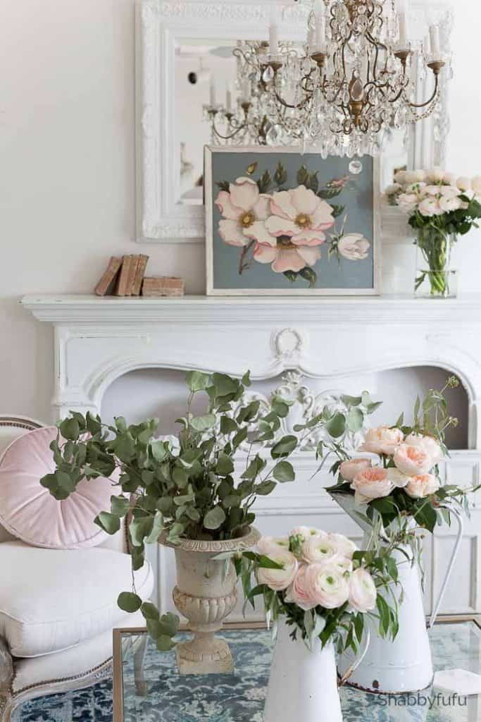 french country spring decorating ideas pink blue