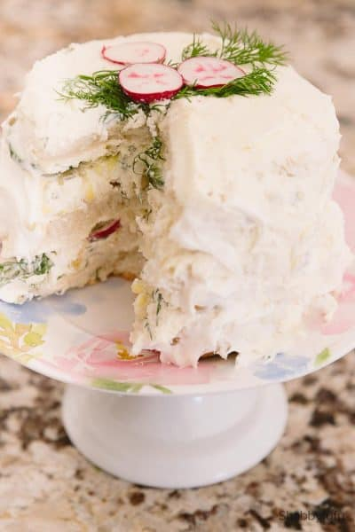 Tea Sandwich Cake For Spring Parties