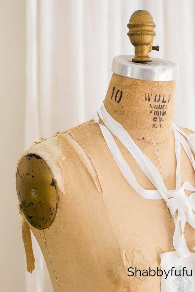 Romantic Spring Mantel vintage mannequin