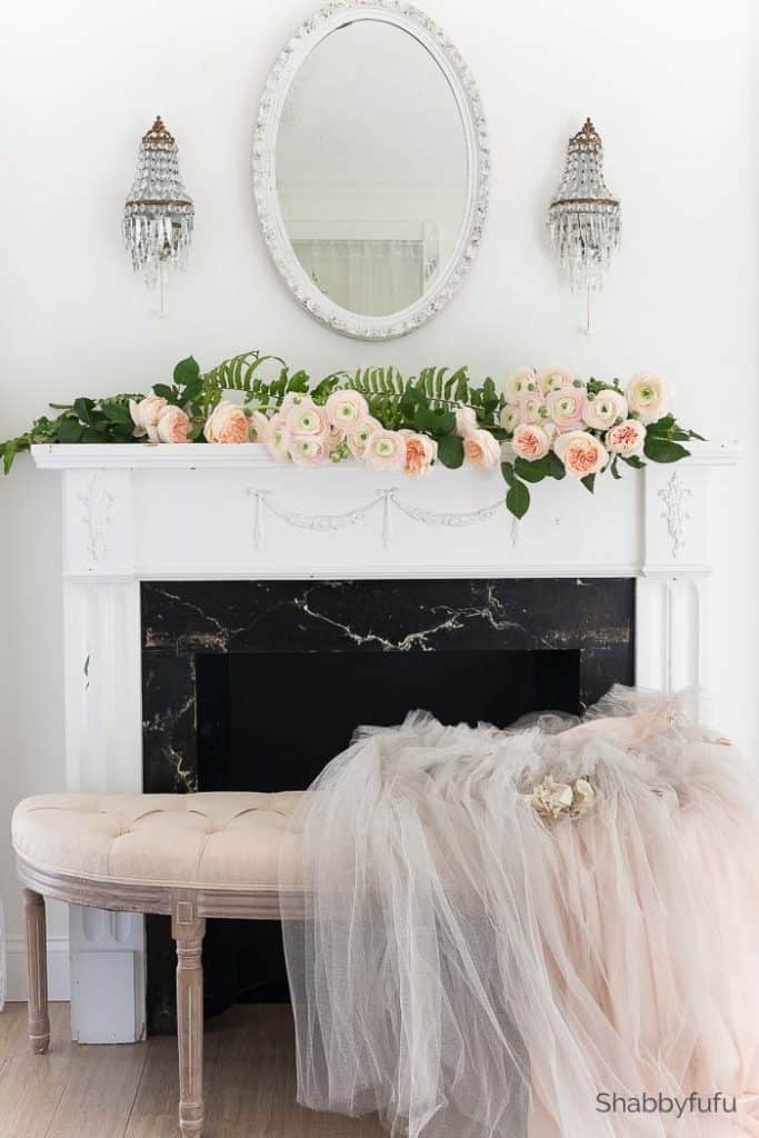 Romantic Spring Mantel