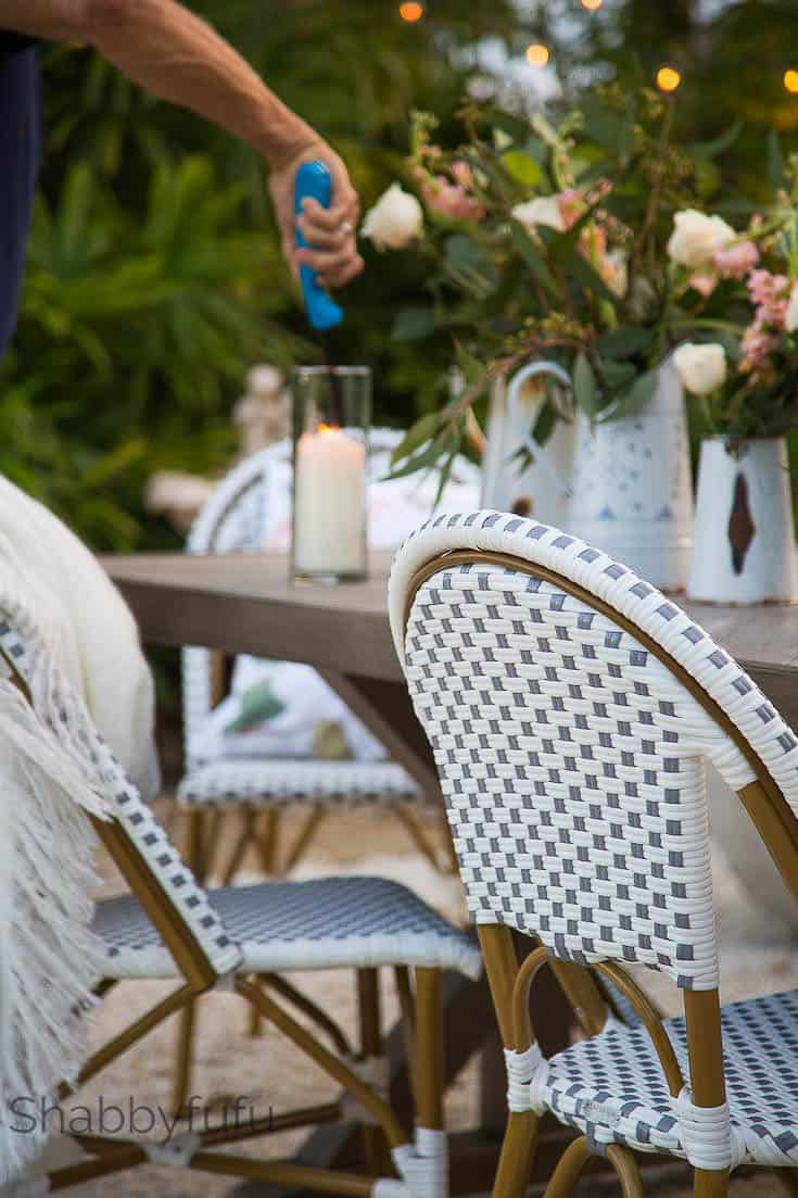 outdoor dining room drucker chairs