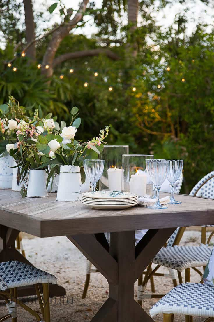 Outdoor Dining Room - French Style Patio Design - shabbyfufu com