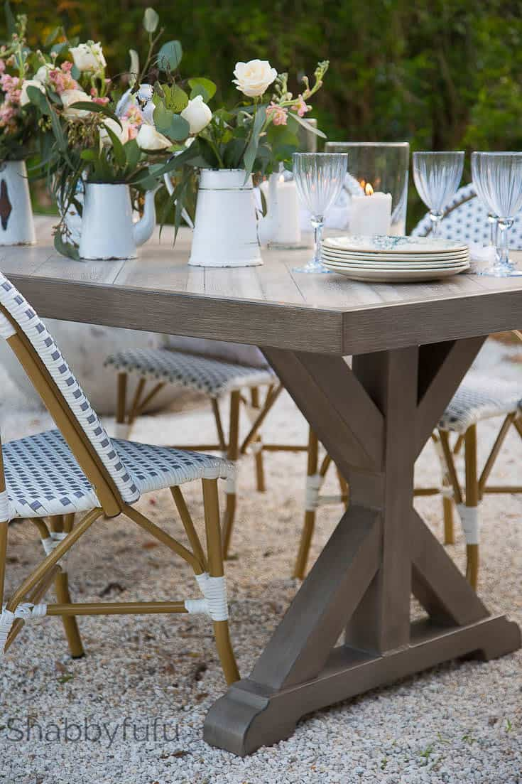 Outdoor Dining Room Trestle Table