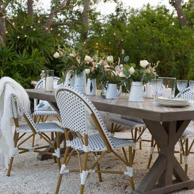 Outdoor Dining Room – French Style Patio Design