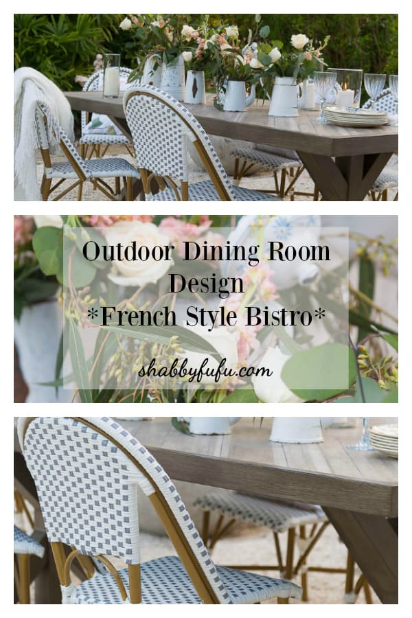Outdoor Dining Room Design - French Style Bistro