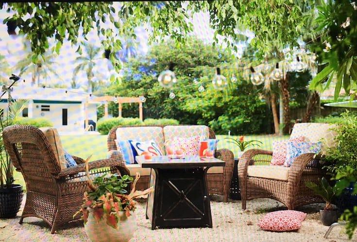 pea gravel patio home depot shabbyfufu patio style challenge