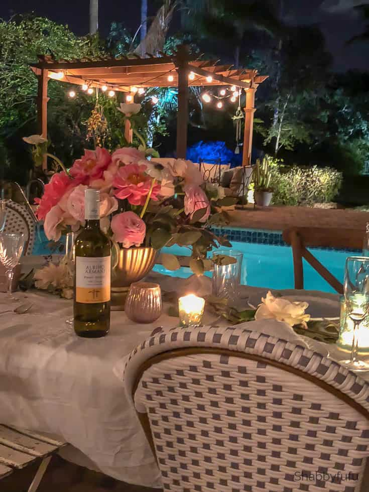 beautiful affordable wedding reception at night