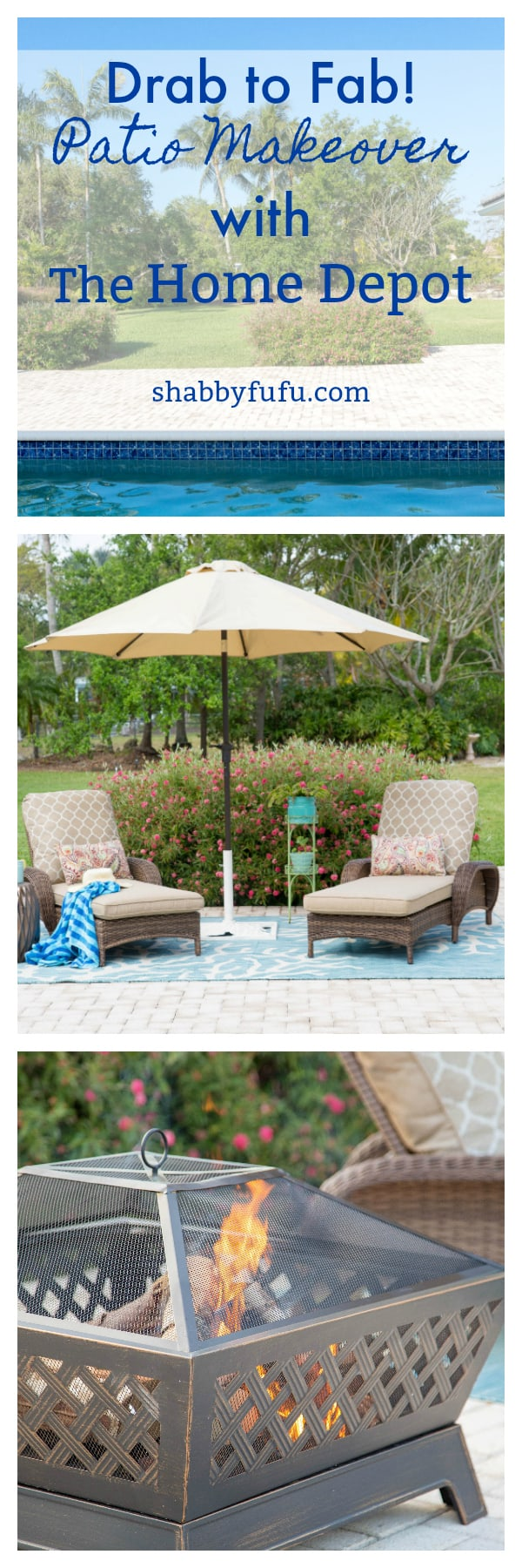 Patio makeover with #homedepotstylechallenge