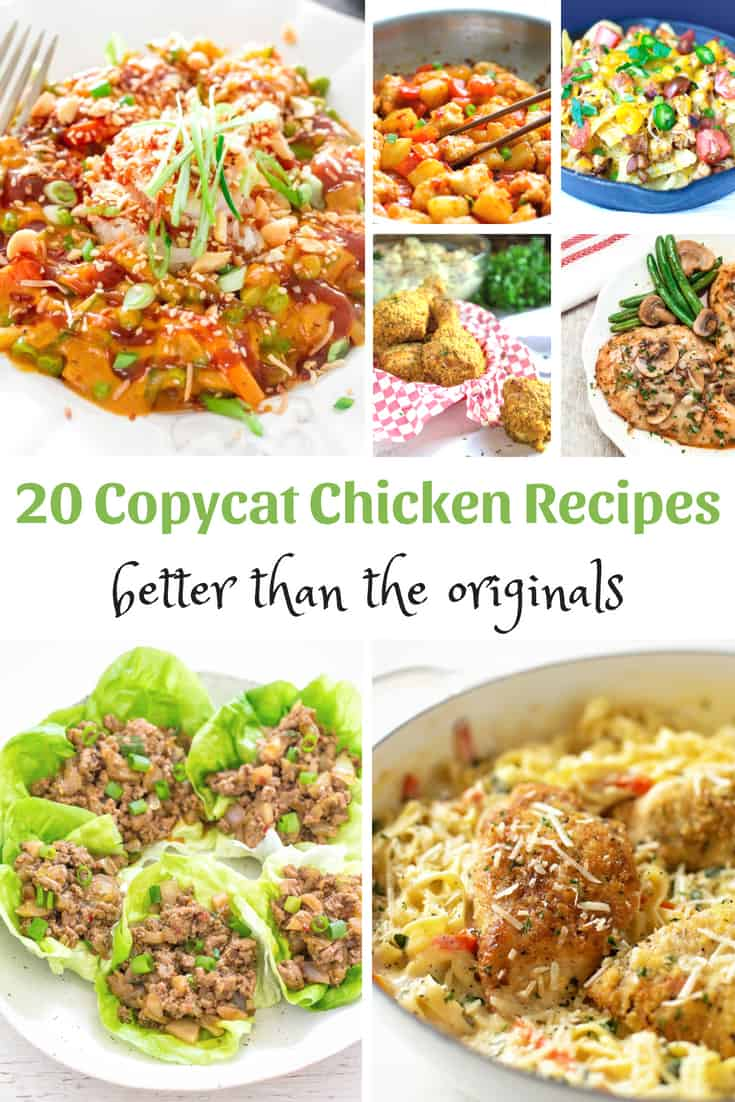 Copycat chicken recipes that are better than Olive Garden, Panda Express, Cheesecake Factory, PF Chang's, Chili's, KFC, The Cheesecake Factory and others