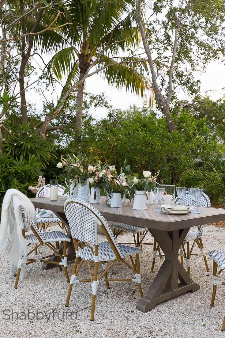 french coastal style patio