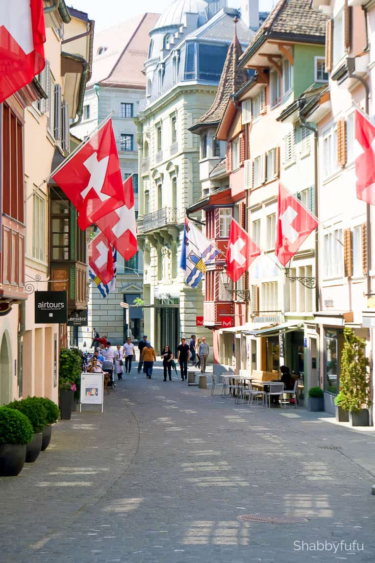 The natural beauty of Switzerland Zurich old town