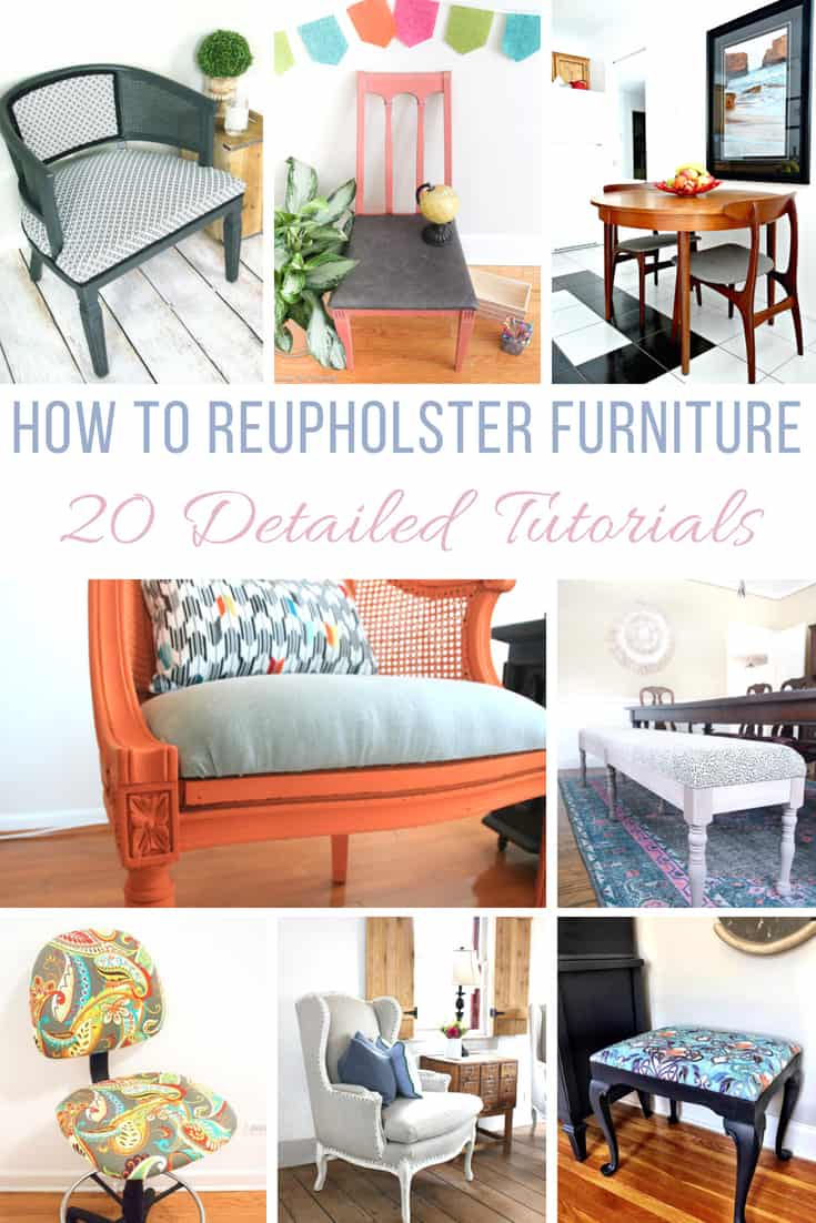 Reupholstered Furniture Tutorials shabbyfufu