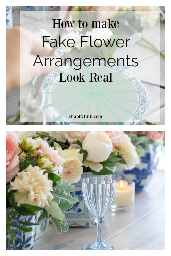 How to make fake flower arrangements look real
