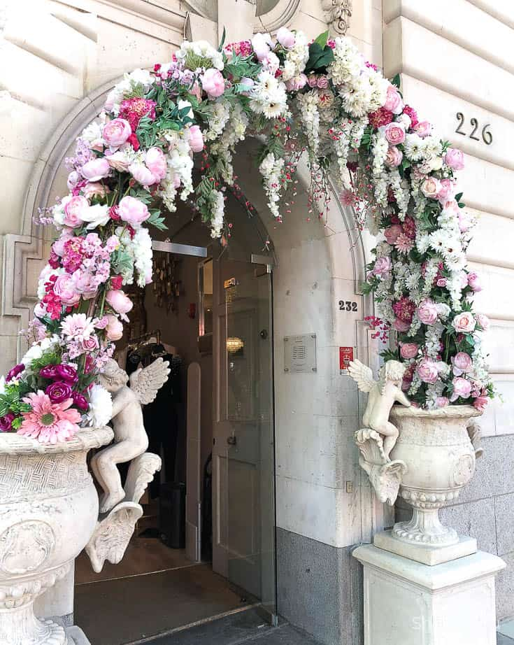 floral arch in London