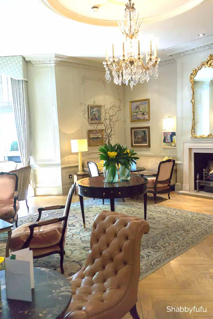 london luxury on a budget kensington hotel parlor