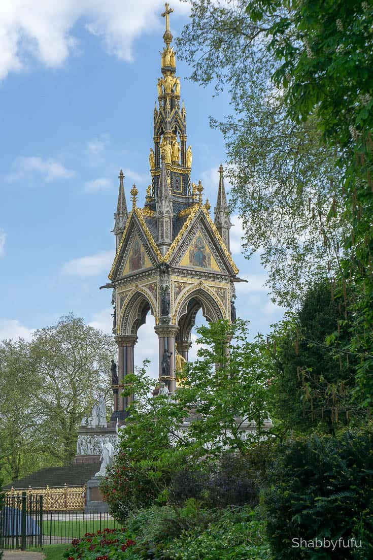 London luxury on a budget the Albert Memorial