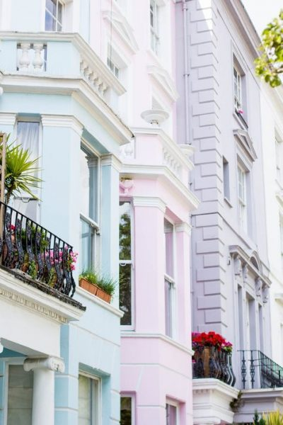 notting hill pastel row houses
