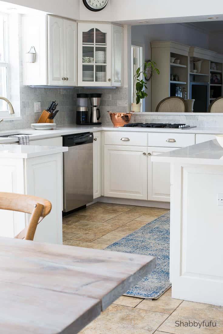 - Carrara Marble Tile Backsplash - Kitchen Reveal - Shabbyfufu.com