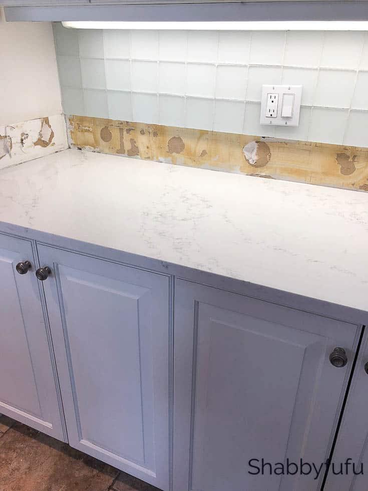 new kitchen counters Montauk pattern Hanstone Quartz