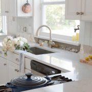 Quartz Countertop Installation In The Kitchen
