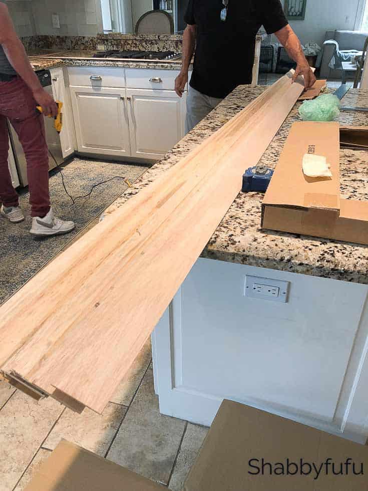 kitchen countertop installation Hanstone