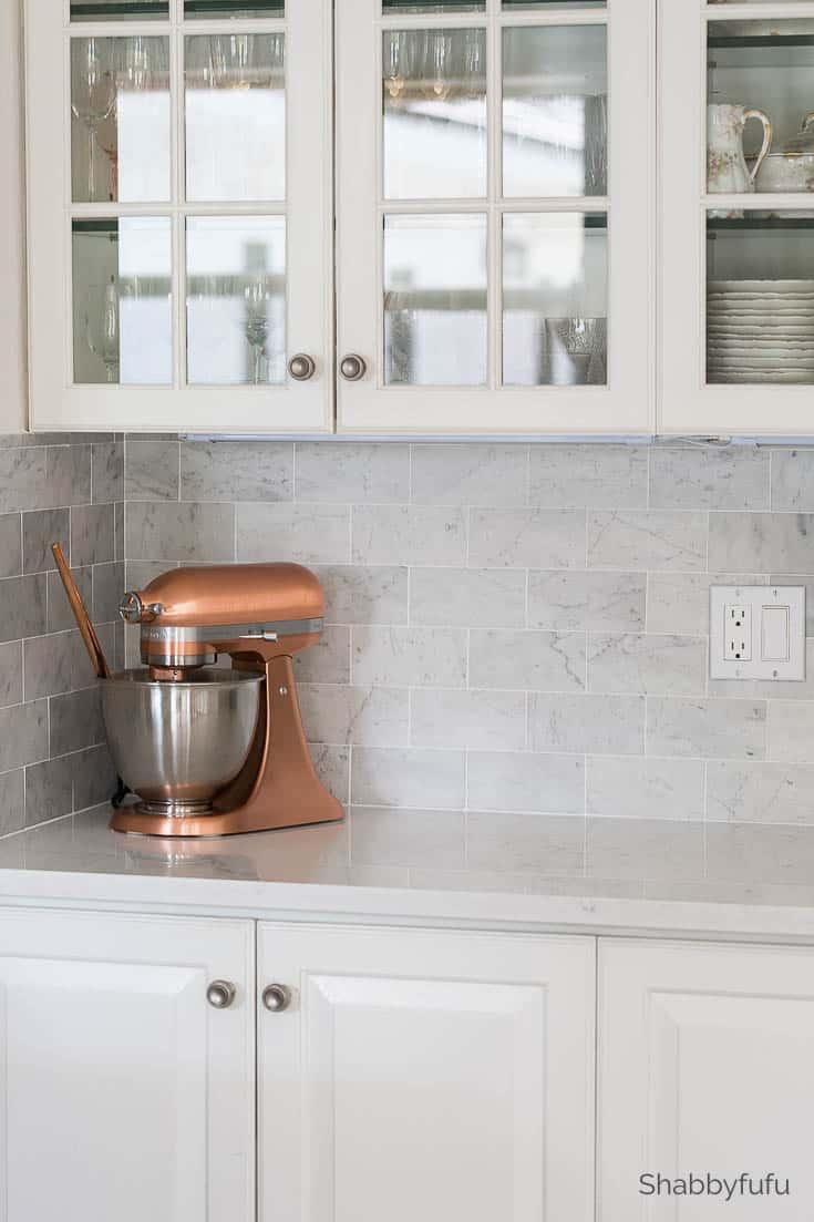 carrara marble tile backsplash butlers pantry