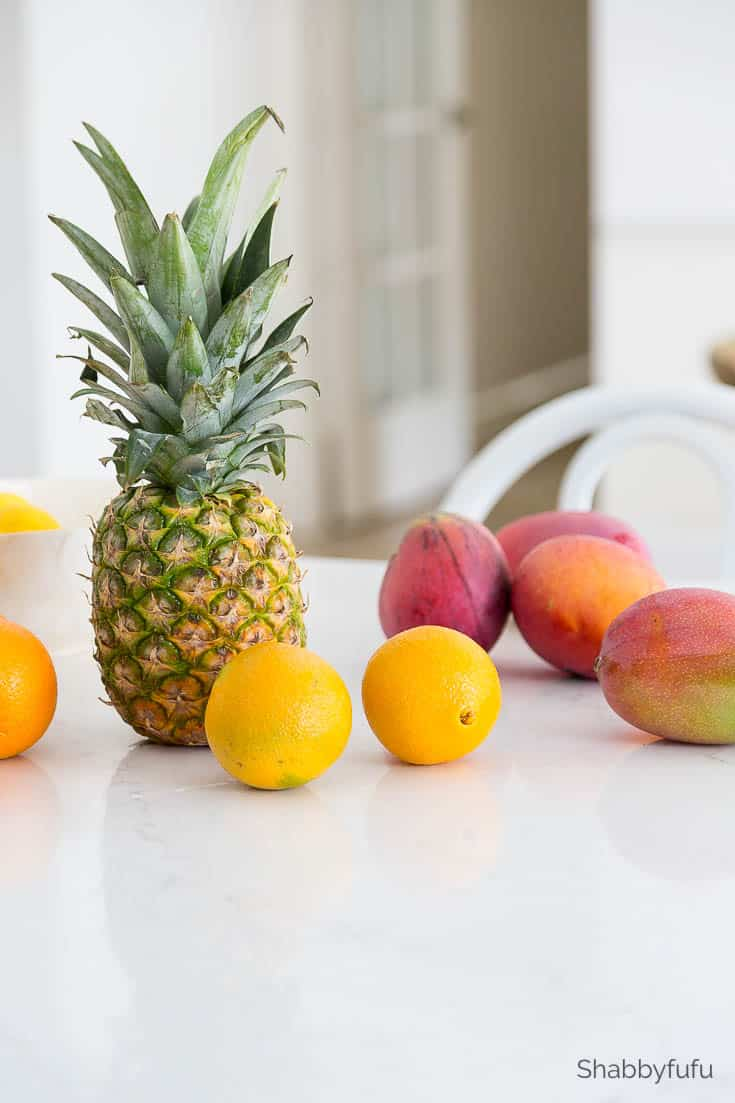 modern tropical dining room decor fruit