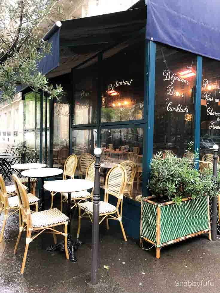 Paris travel tips bistro