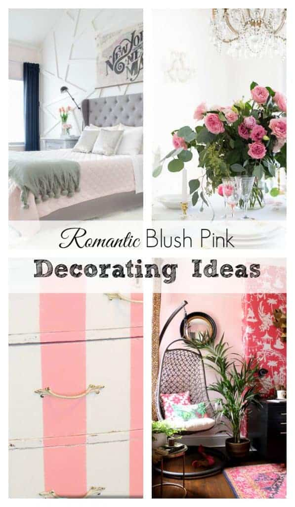 decorate a room with blush pink