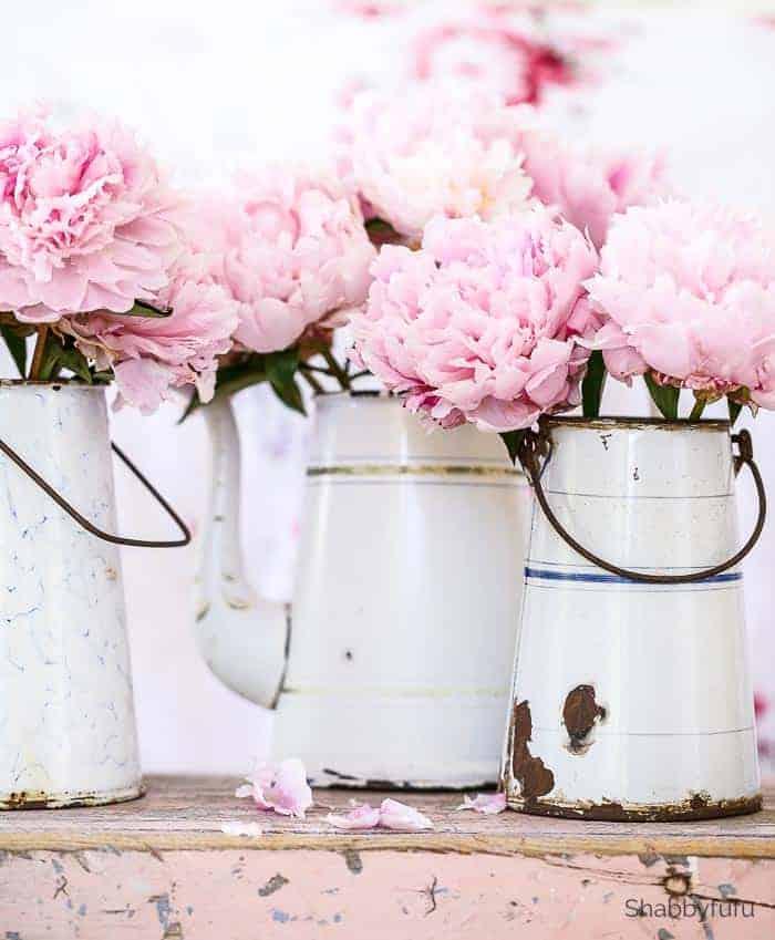 summer flower arrangements peonies