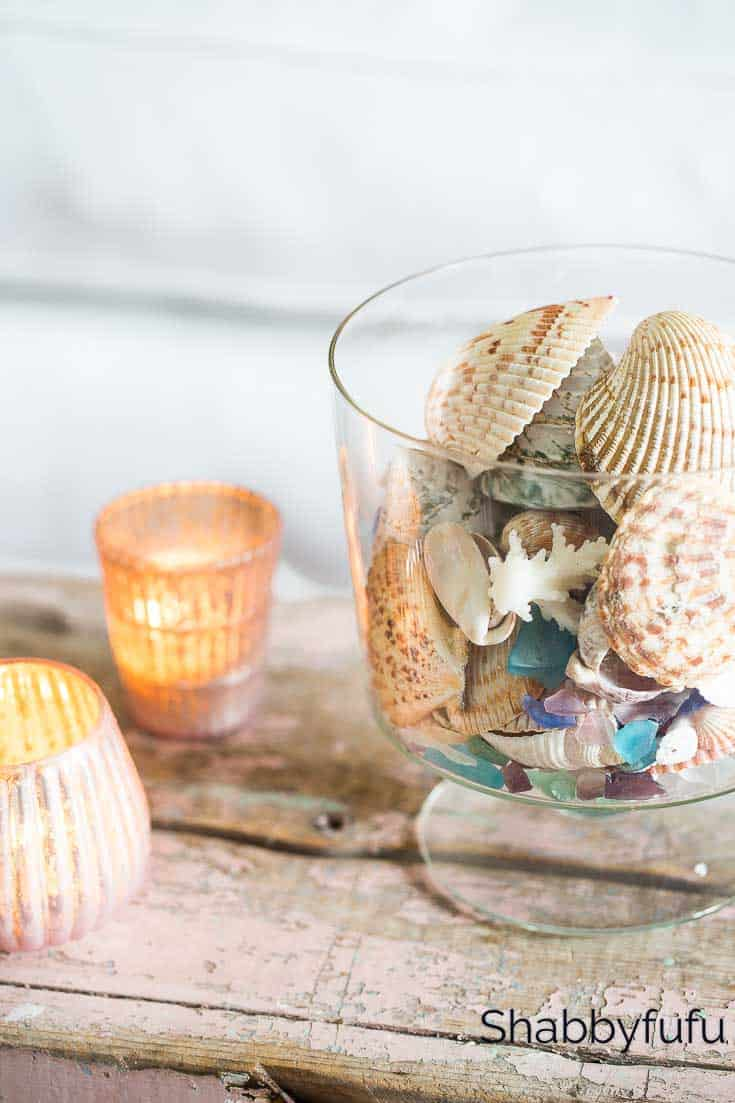 sea shells blush pink decorating ideas