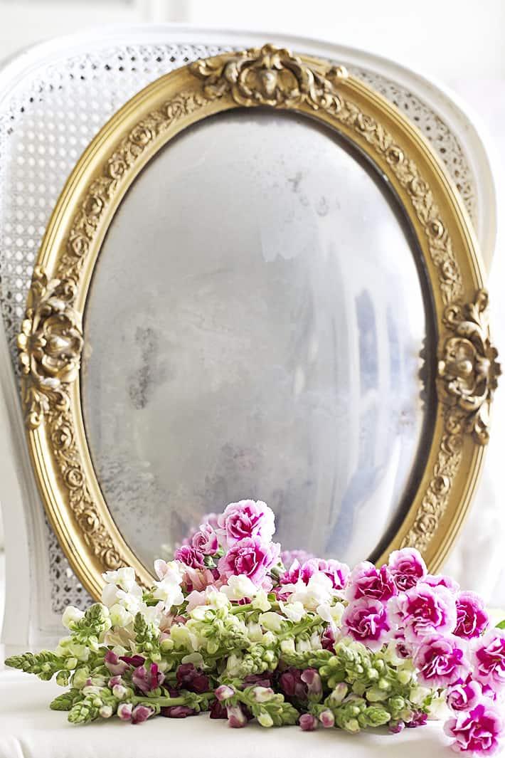 antique photo frame made into a mirror