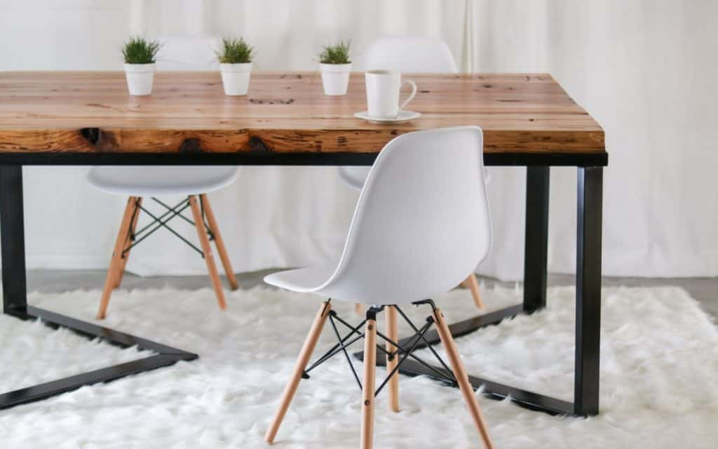 scandinavian interior design dining table diy