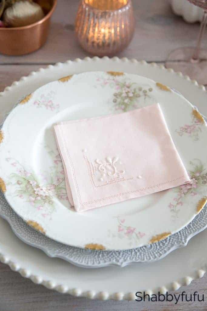 save money budget entertaining ideas - plates layered