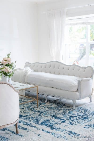designer furniture vintage french tufted sofa