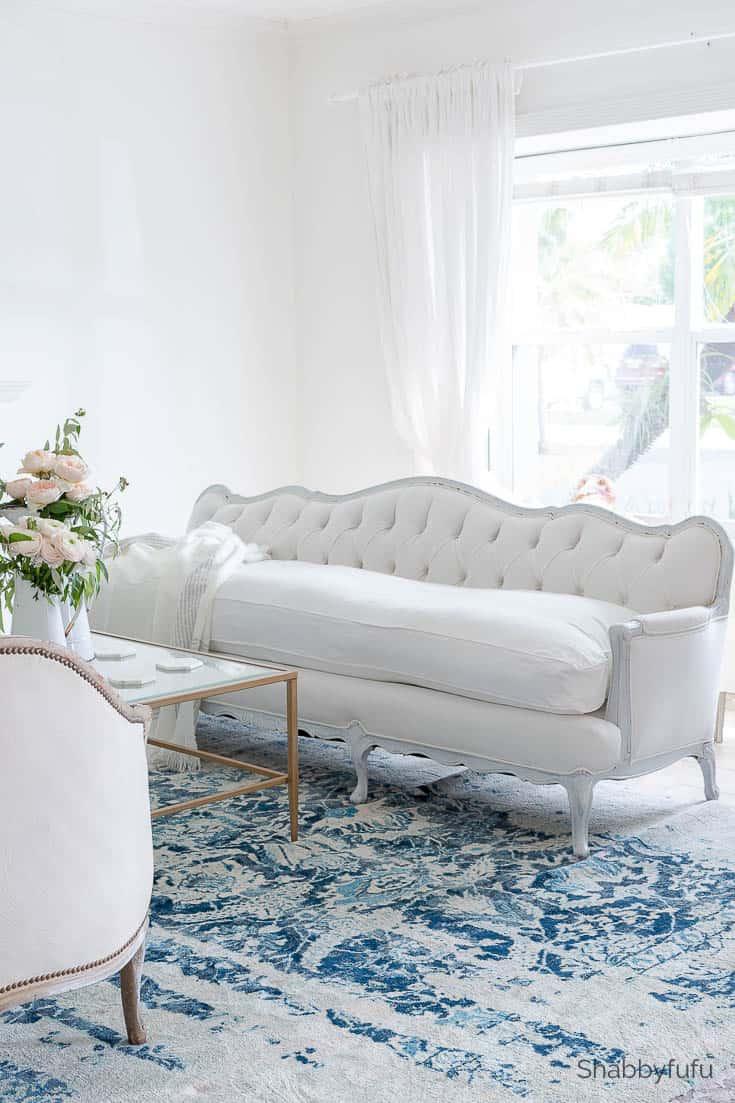 designer furniture vintage french tufted sofa