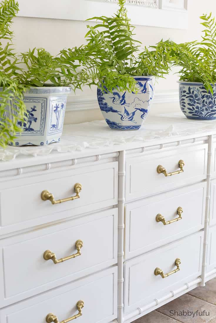 old furniture made new - henry link bali hai modern white lacquer dresser