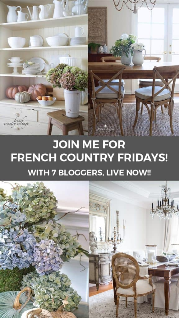 French country modern style decorating
