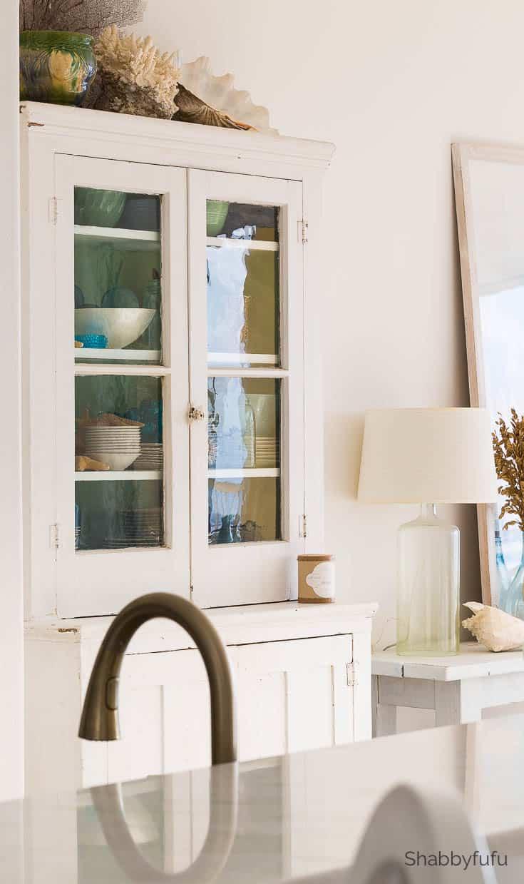 vintage stepback cabinet