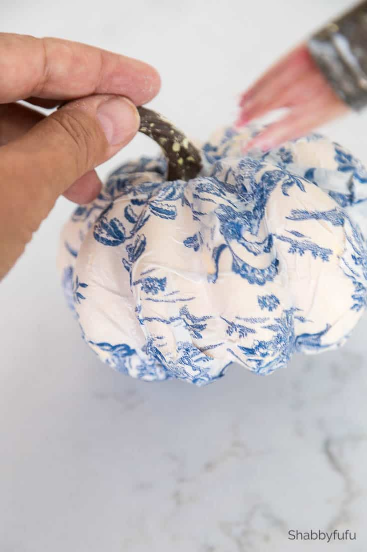 chinoiserie pumpkins diy brush