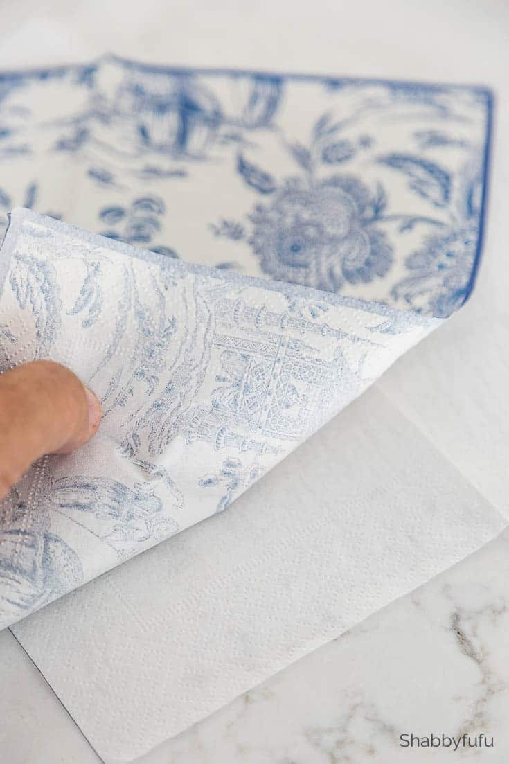 chinoiserie pumpkin diy paper napkins
