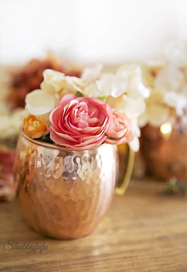 faux flowers shabbyfufu