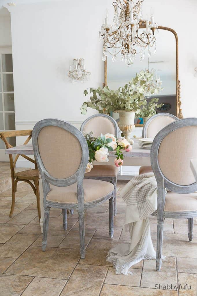 chalk painting furniture french country look