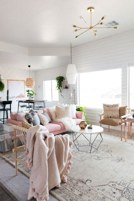 decorating your home with soft colors modern living room