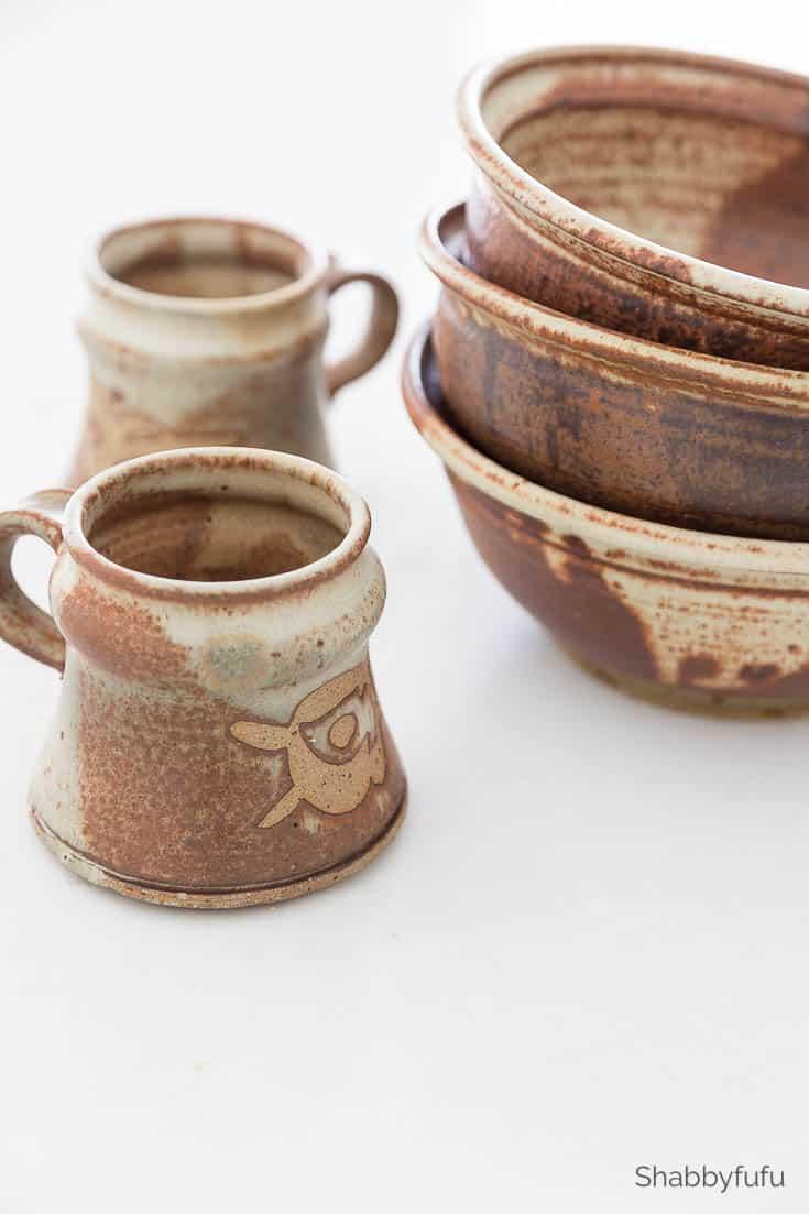resale shops - vintage pottery