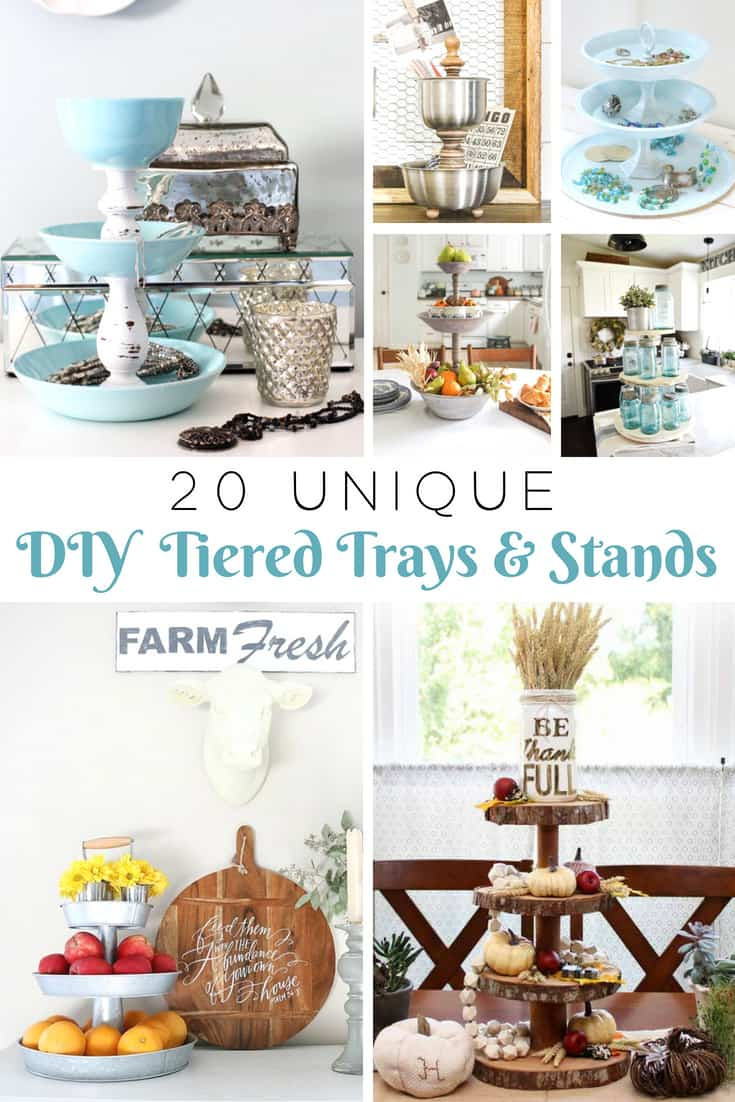 unique tiered trays diy projects
