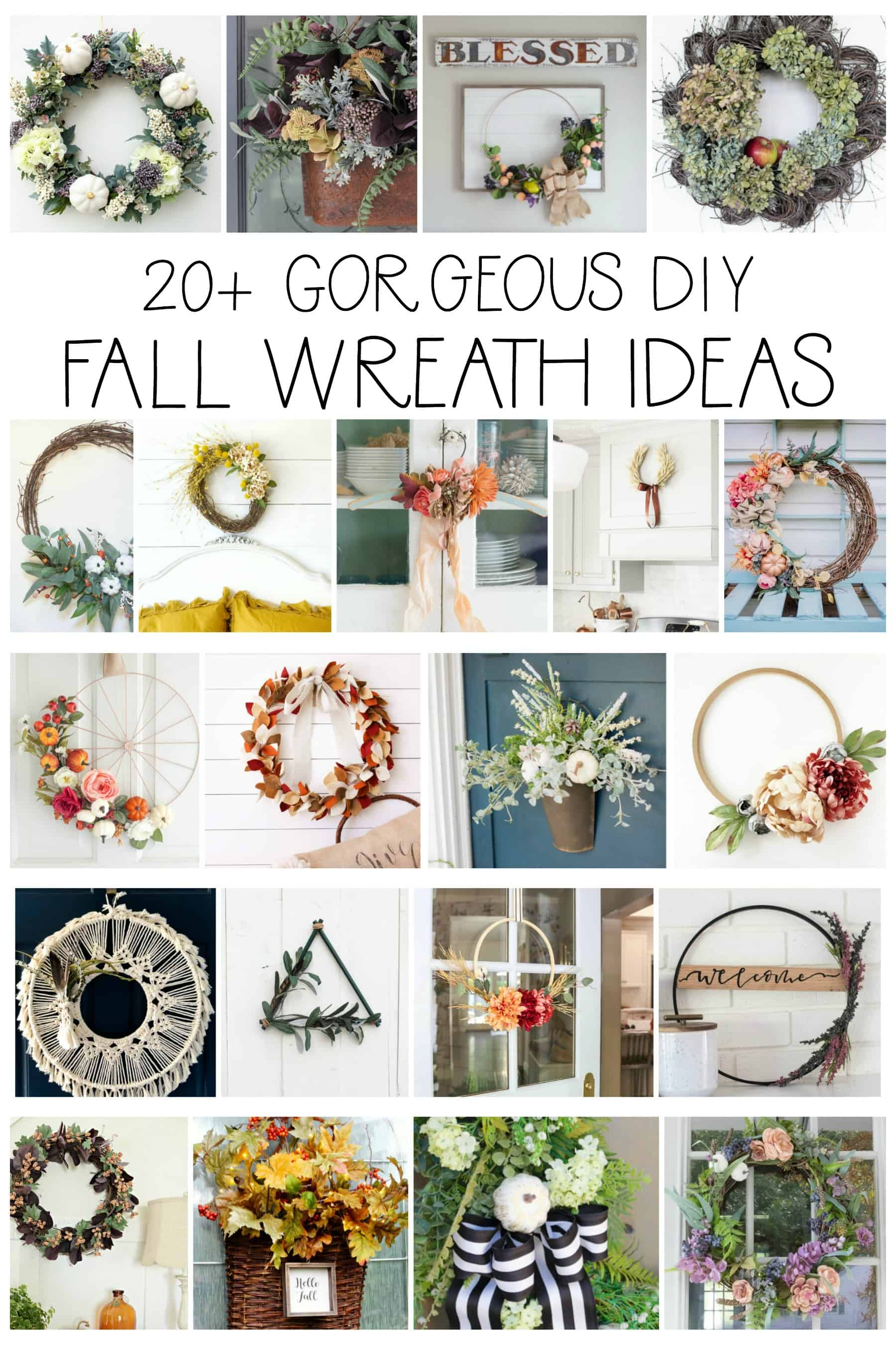 20 autumn diy fall wreaths