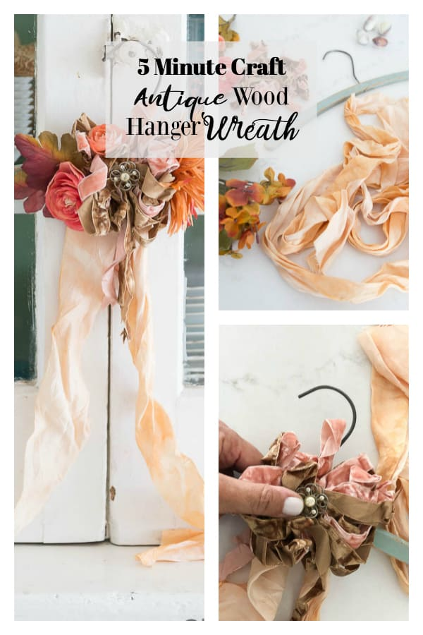 antique wood hanger wreath 5 minute diy shabbyfufu