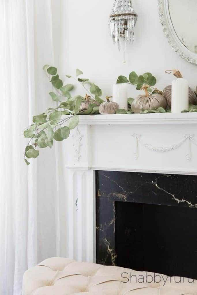 fireplace surround Ideas elegant pumpkins