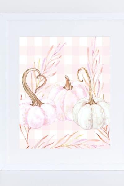 free pastel pink pumpkin printable
